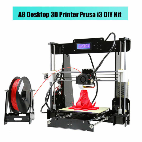 Anet A8 High Accuracy 3D Desktop Printer LCD Screen Prusa i3 100mm/s - DIY Kit