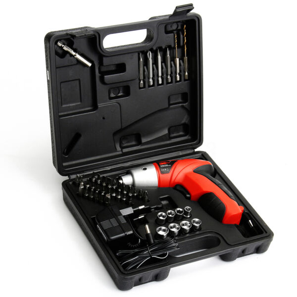 45 in1 4.8V Electric Cordless Li-Ion Screwdriver Drill Kit Power Rechargeable