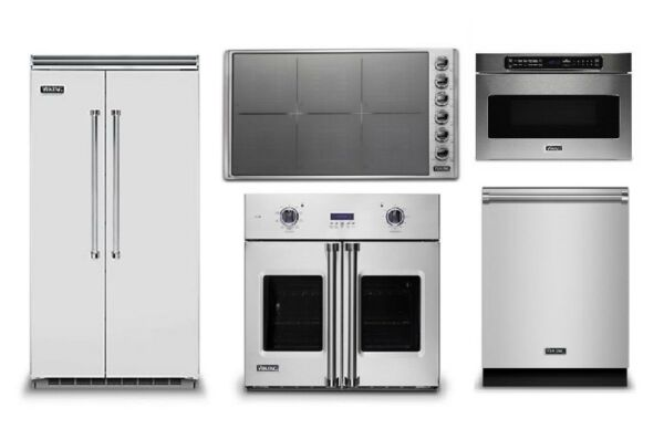 Viking 42in Refrigerator 36in Induction Cooktop Oven Microwave