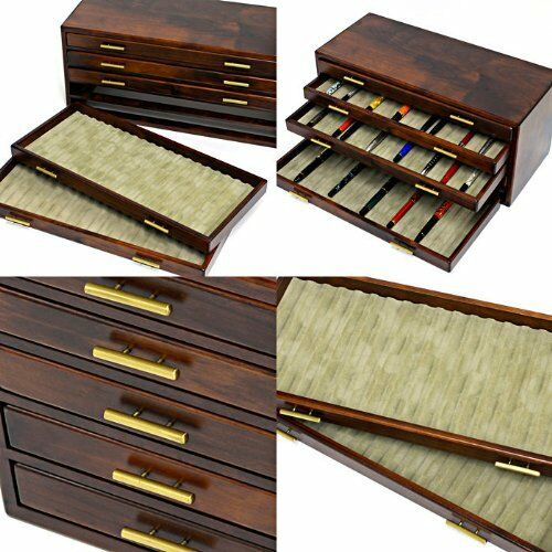 Toyooka craft Fountain pen box KINGDOM note bespoke for 100 pens FS from JAPAN