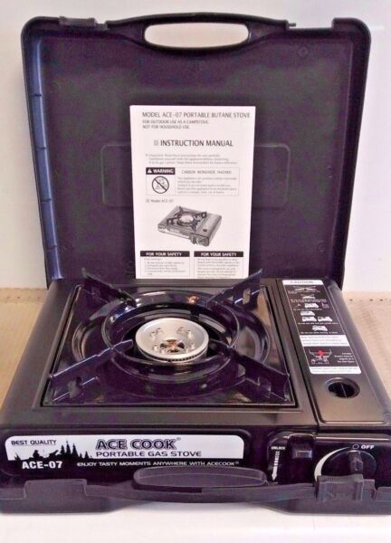 Portable Gas Stove with Carrying Case Great for Outdoor Camping