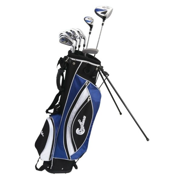 Confidence GOLF Mens Right Hand POWER II Hybrid Steel Club Set & Stand Bag