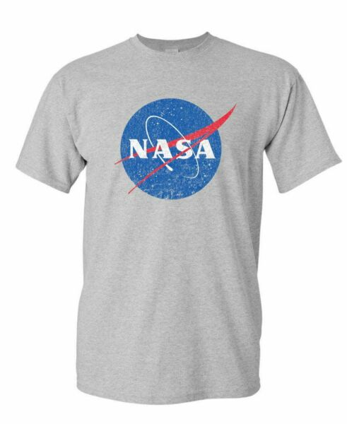 NASA retro logo vintage look space 80's - Mens Cotton T-Shirt