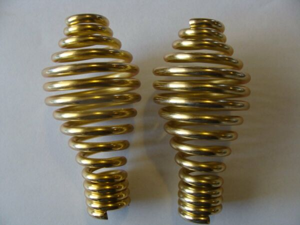 New Wood stove BBQ pellet stove spring coil handles in brassgold color.