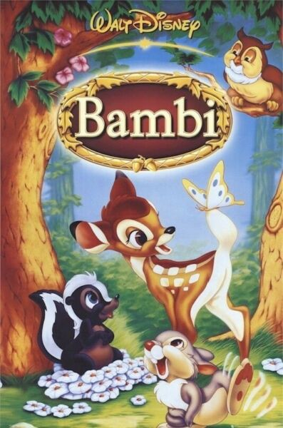 BAMBI FOREST CAST 27x39 MOVIE POSTER Walt Disney Thumper NEW ROLLED