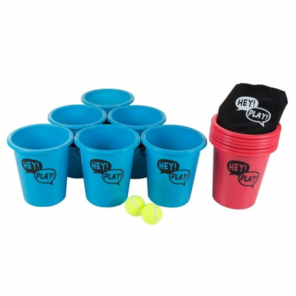 Pail Ball Big Large Beer Pong Game Table Lawn Drinking Beach Friendly Game