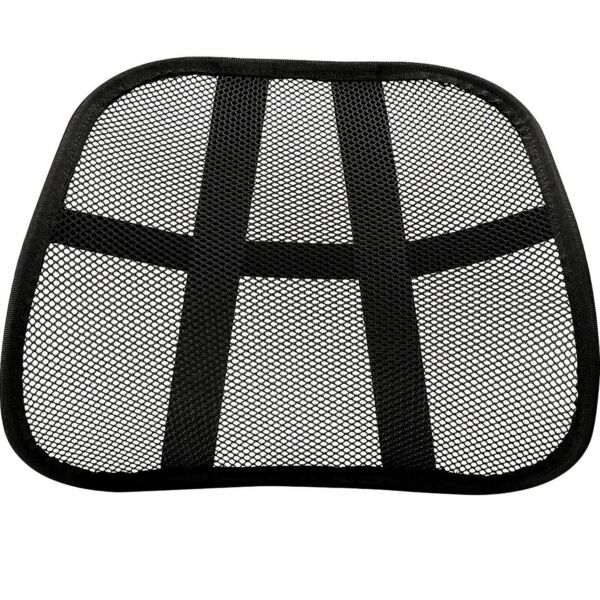 Mesh Back Lumbar Support Portable For Your Car Seat Chair Office or Home Black $5.98