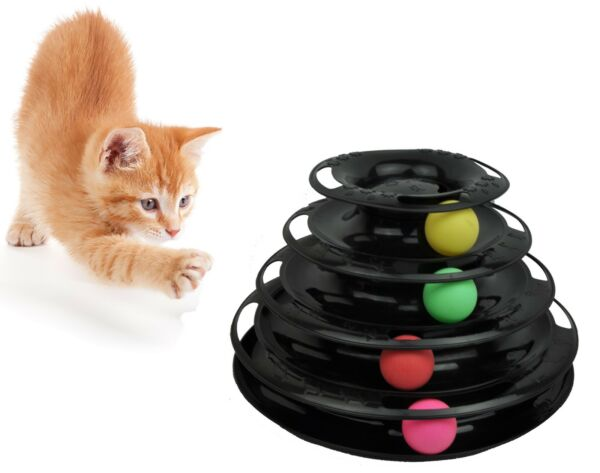 Purrfect Feline Titan's Tower - Interactive Cat Toy New Design 3 or 4-Level