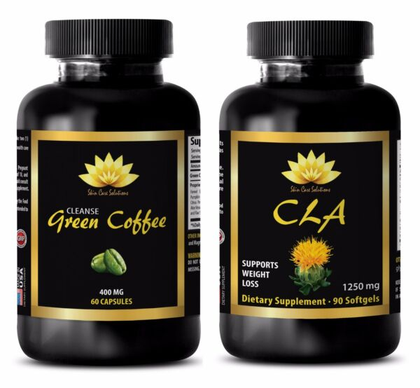Weight loss natural vitamins - CLA - GREEN COFFEE CLEANSE COMBO - green coffee