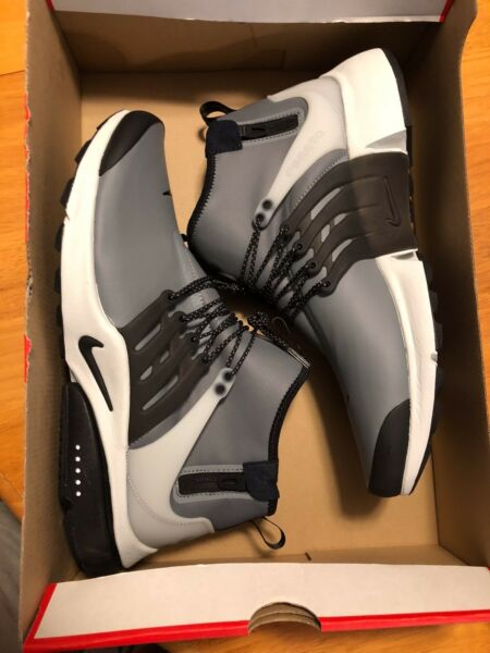 Nike Air Presto Mid Utility DWR Cool Grey Side Zip Winter 859524-001 NO BOX LID
