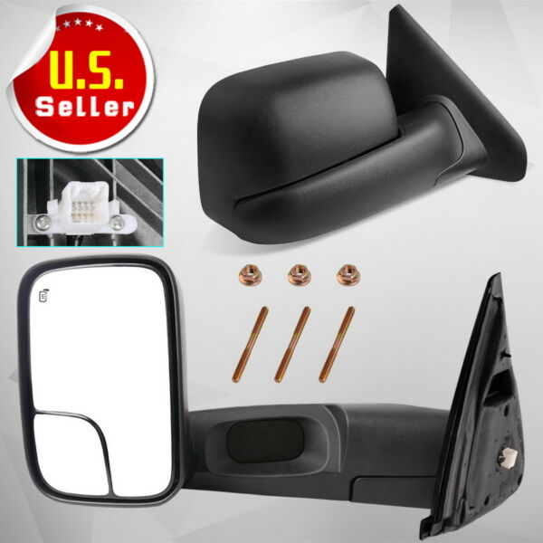 Pair for 2002-08 Dodge RAM 1500 03-09 2500 3500 Power Heated Tow Mirrors Flip-Up