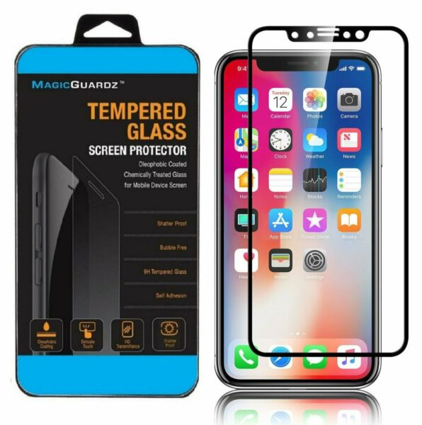 For Apple iPhone X Full Coverage Tempered Glass Screen Protector 3D HD Cover