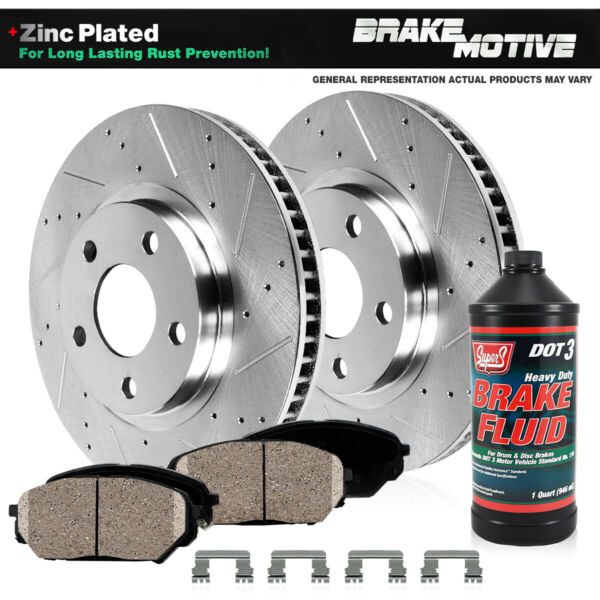 Front Brake Rotors And Ceramic For 2010 2011 2012 2013 FORD TRANSIT CONNECT $84.04