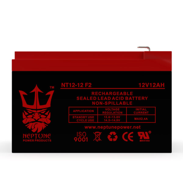 NeptuneUpg 12V 12Ah F2 SEALED LEAD ACID AGM DEEP-CYCLE RECHARGEABLE BATTERY