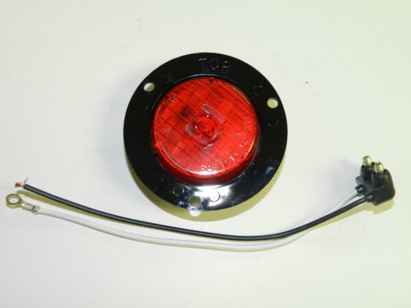 1 RED 5 LED Light Truck Trailer 2quot; roundFlange mount Clearance marker $6.99