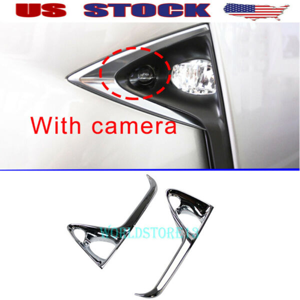 fit 2016-2019 Lexus RX450h RX350 F Sport Chrome Front Fog Light Cover Trim Decor