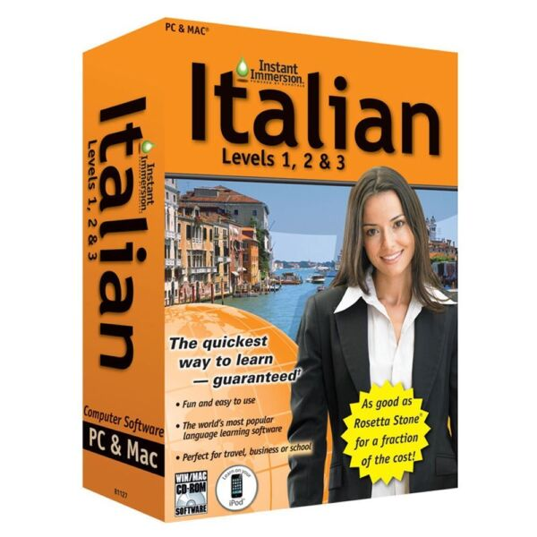 Learn How To Speak Italian With Instant Immersion Levels 1 3 Retail Box $9.99