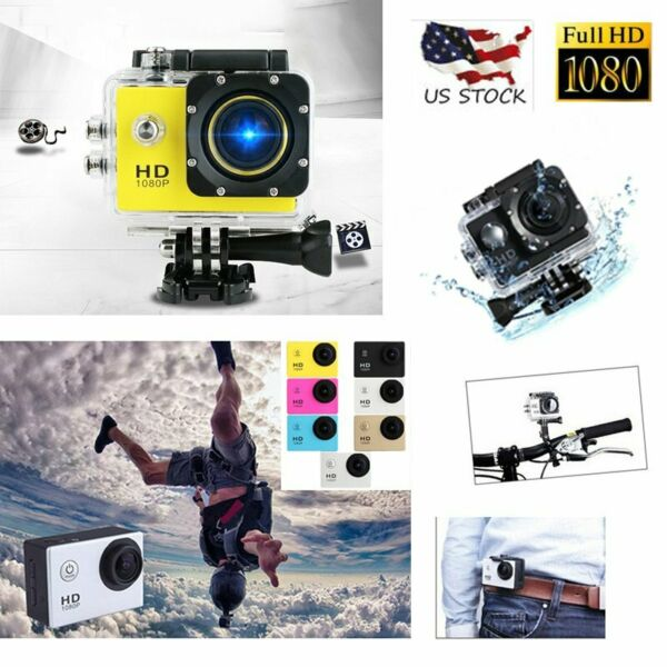 Waterproof  HD 1080P Ultra Sports Action Camera DVR Cam Camcorder US
