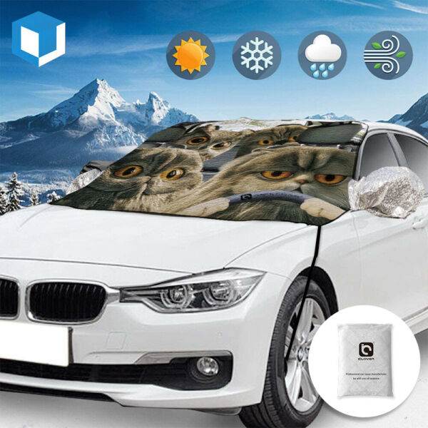 Magnet Car Windshield Cover Sun Shade Snow Ice Dust Frost Removal Truck Van SUV