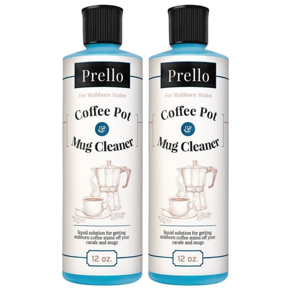 Prello Coffee Pot and Mug Cleaner - Removes Stains from Cups Machines (2 PACK)