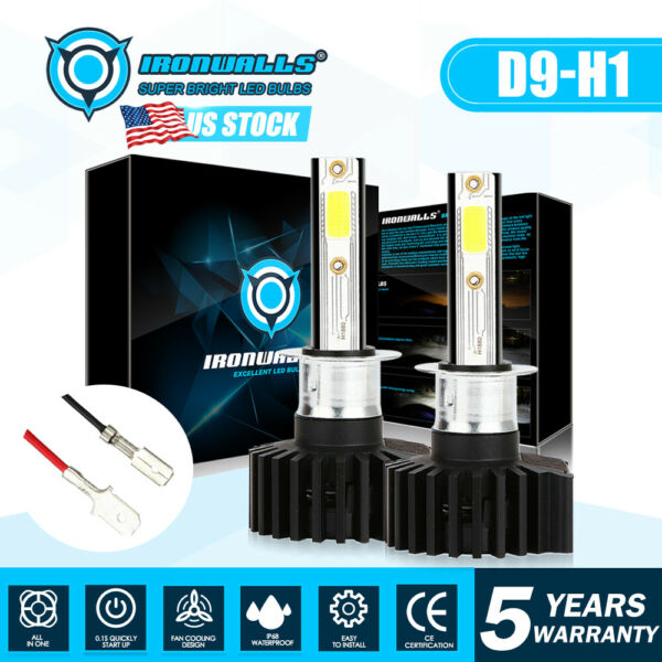 2018 Upgrade H1 1620W 6000K White LED Headlight Conversion Bulb High Lo Beam Kit