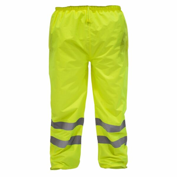 Hi Vis Rain Pants Work Waterproof Reflective High Visibility Safety ANSI