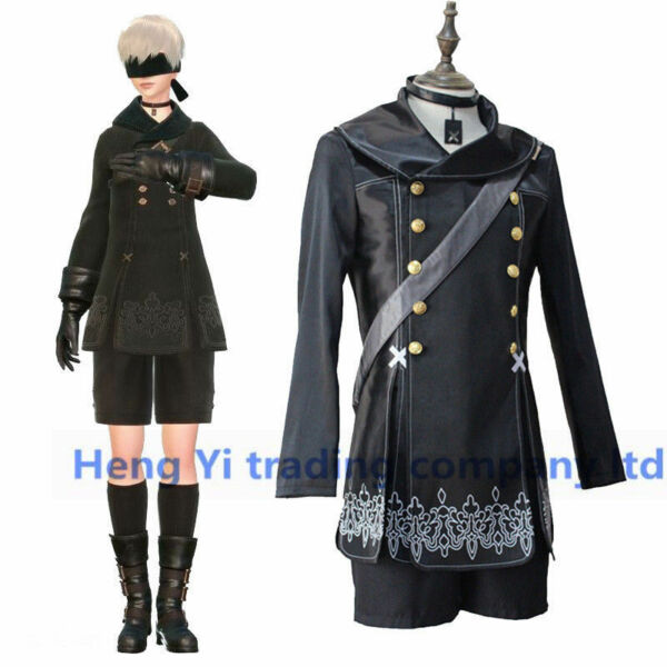 NieR Automat YoRHa No. 9 Type S Cosplay Costumes Halloween Cosplay 4 Pcs Set $47.34
