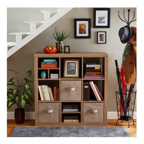 Vinyl Record Storage Lp Wood Furniture Cube Rack Shelves Bin Album Crate Cabinet