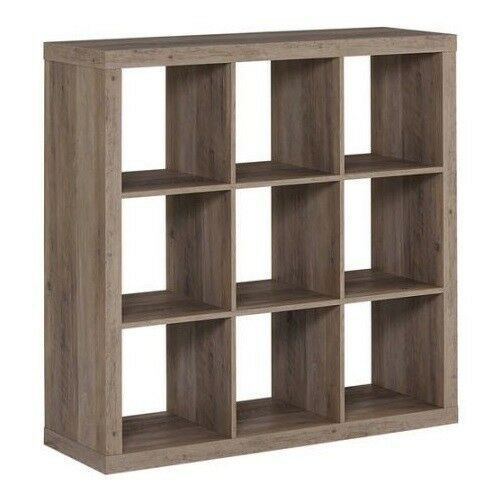Rustic Vinyl Record Storage Cabinet Wood Cube Furniture Rack Shelves Album Crate