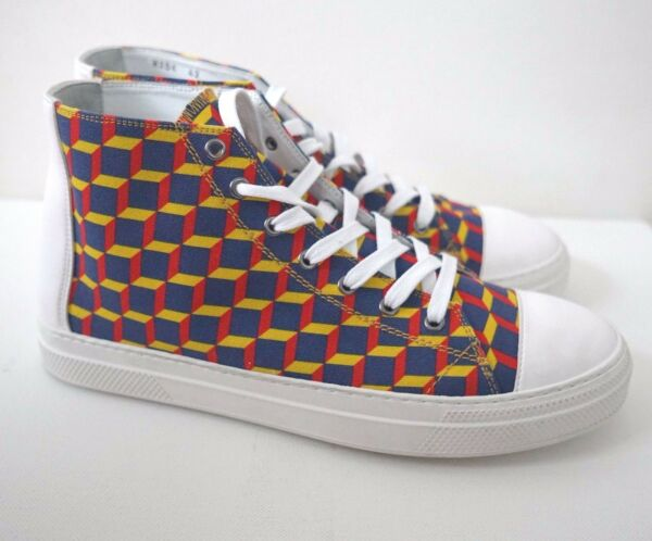 PIERRE HARDY Canvas Multi-Colored Fashion Designer's Sneakers 42 US-9
