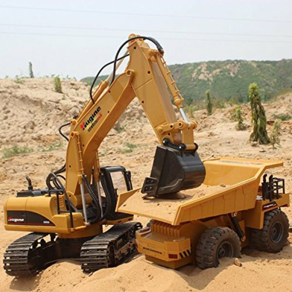 Remote Control Excavator RC Tractor Bulldozer Crawler Truck Toy Digger Car 15CH