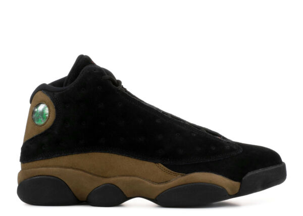 SALE Nike Air Jordan 13 XIII Retro Olive 2018 414571-006 Black Gym Red