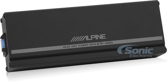 NEW Alpine KTP-445U Universal Pack Amplifier for w Aftermarket Head Units Amp