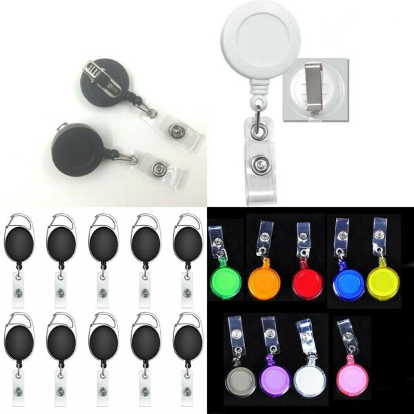 100 50 Wholesale Retractable Reel ID badge with Belt or Swivel Alligator Clip $16.99