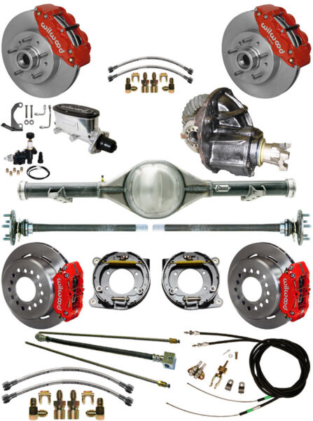NEW WILWOOD BRAKE & CURRIE REAR END SETPOSI GEARLINESCABLES60-62 C10C15RED