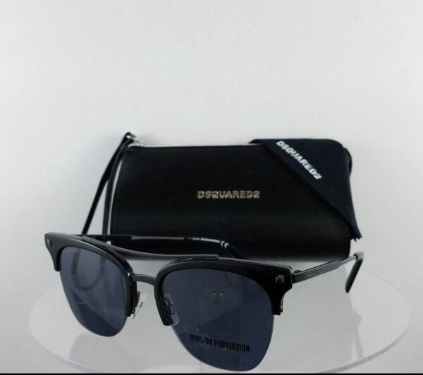 Brand New Authentic Dsquared2 Sunglasses DQ 0251 Kris 01A 55mm Frame DQ251 $118.99