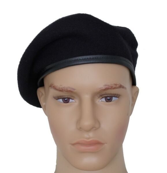 GI US Army Black Wool Beret Genuine Issue Military Beret With Without Flash