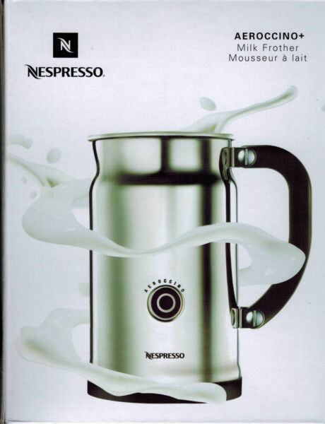 NEW Nespresso Aeroccino+ Plus 3192-US Automatic Electric Milk Frother Aeroccino