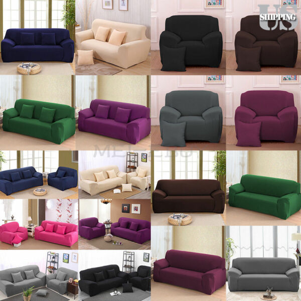 Stretch Chair Sofa Cover Slipcover 1 2 3 4 Seater Elastic Couch Protector Cover $18.89