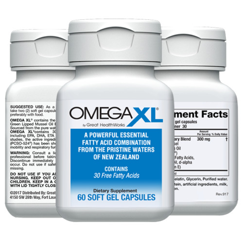 Omega XL 60ct by Great HealthWorks: Small Potent Joint Pain Relief - Omega-3