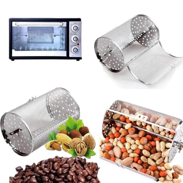 Coffee Beans Peanut Nuts Food BBQ Rotisserie Roaster Drum Oven 12*18cm(4.7