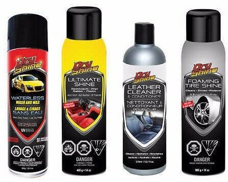 Dry Shine Waterless Car Wash & Wax Combo Pack - Top Rated, Free Shipping!
