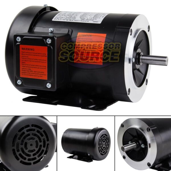 2 HP Electric Motor 3 Phase 56C Frame 3600 RPM TEFC 208 230  460 Volt New