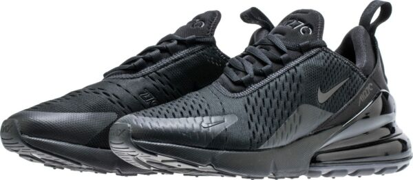 Nike Men's Air Max 270 Running Shoes AH8050-005 Triple Black Blackout