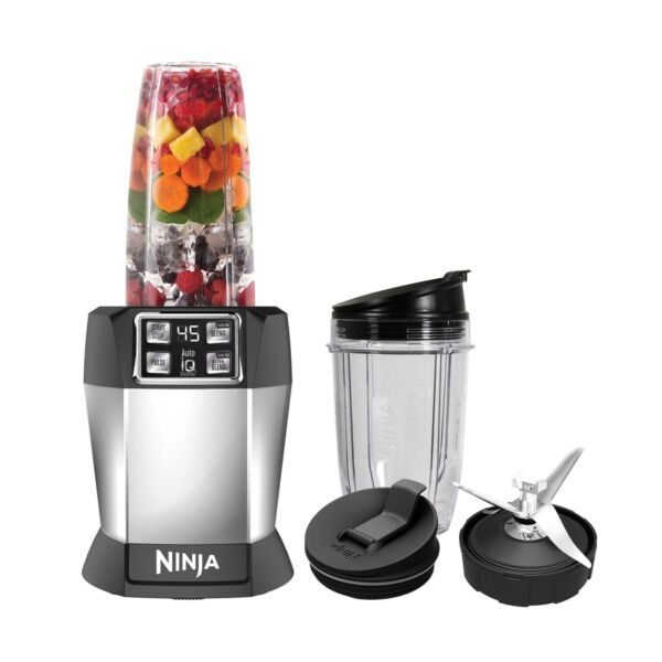 Nutri Ninja BL480 Auto-iQ 1000 Watt Blender with Cups (Certified Refurbished)