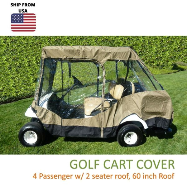4 Passenger Seater Golf Cart Driving Enclosure Cover EZGO Club Yamaha 58