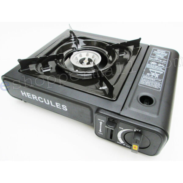 Portable Butane Gas Stove Automatic Ignition with Carrying Case Camping Hot Pot