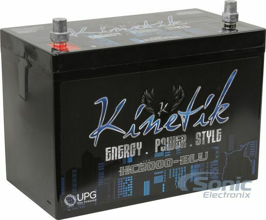 KINETIK 2000W HC2000 High Current AGM Car Audio Power Cell/Battery | HC2000-BLU
