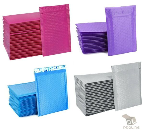 ANY SIZE POLY BUBBLE MAILERS SHIPPING MAILING PADDED BAGS ENVELOPES COLOR $29.95