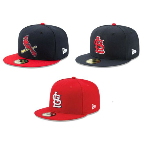 St. Louis Cardinals STL MLB Authentic New Era 59FIFTY Fitted Cap - 5950 Hat